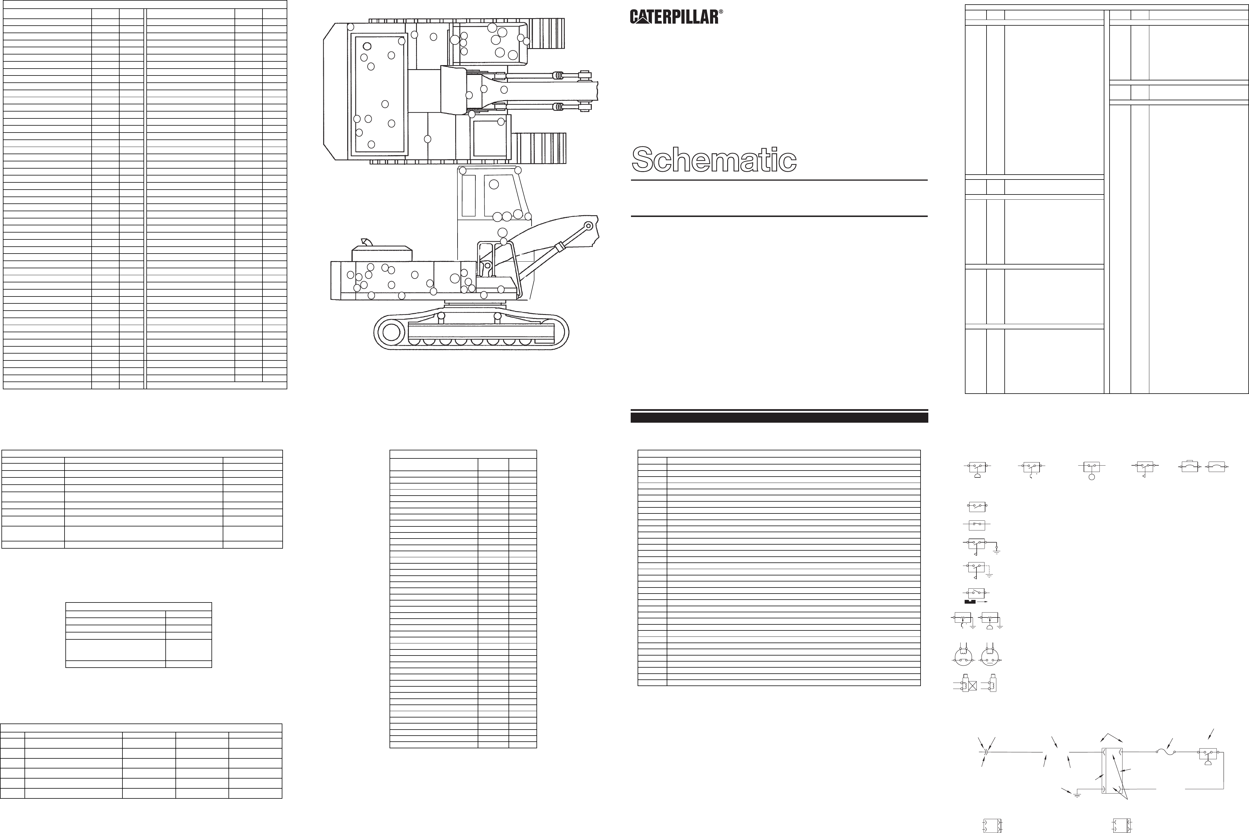 325B MATERIAL HANDLER ELECTRICAL SCHEMATIC USED IN SERVICE MANUAL SENR8955  | CAT Machines Electrical SchematicCAT Machines Electrical Schematic