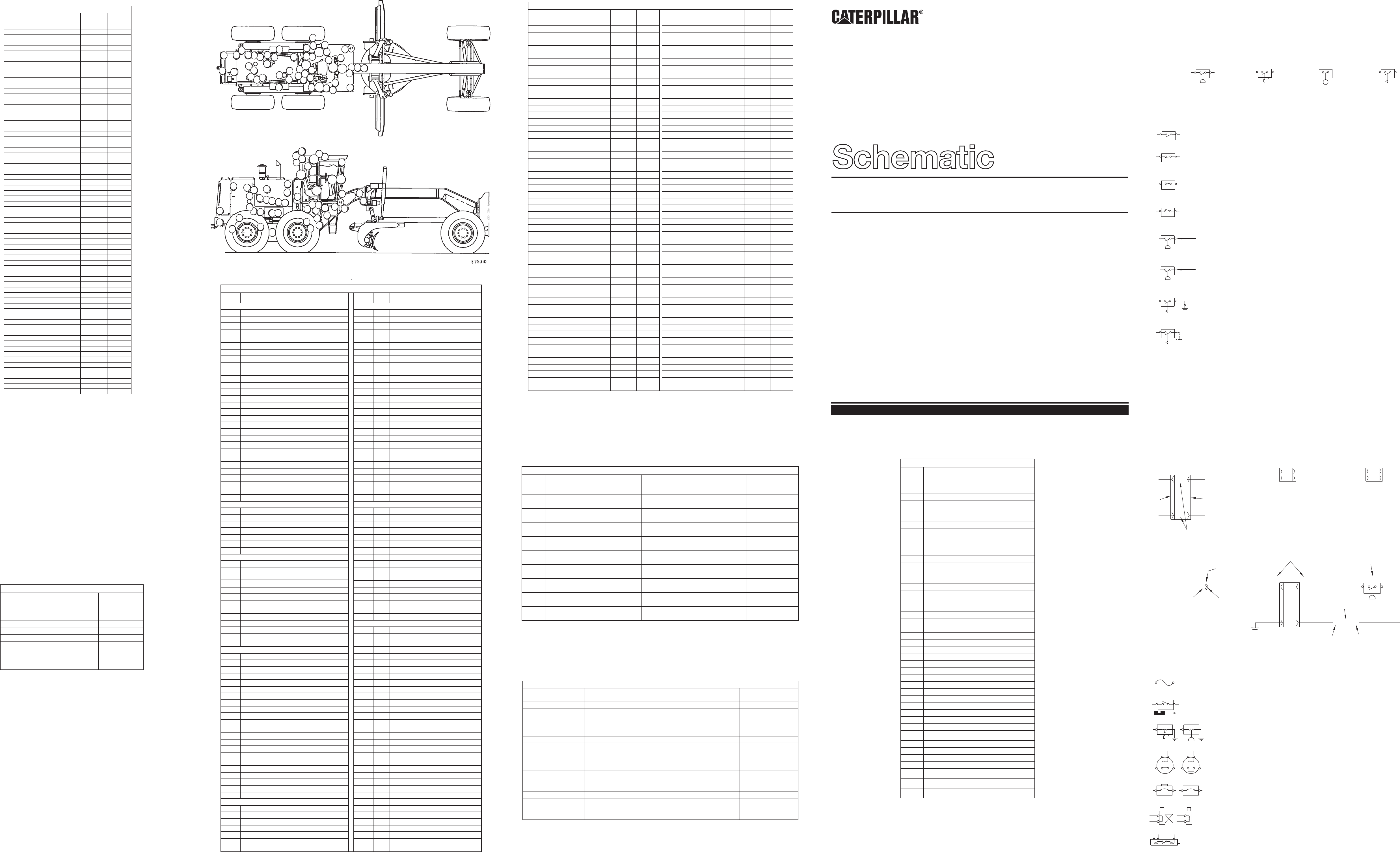 120h mg es version electrical system schematic  �  1998 caterpillar