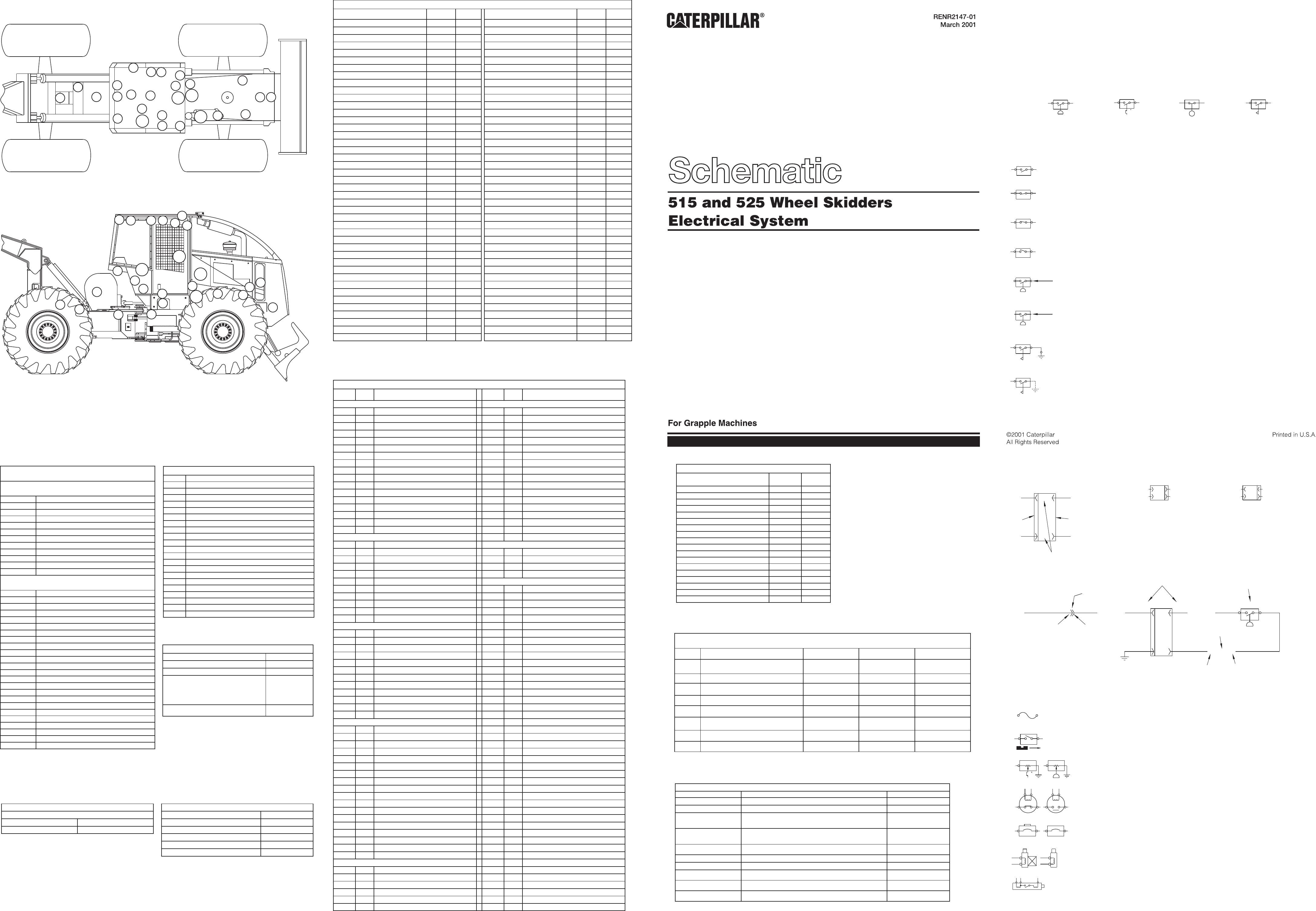 515 & 525 wheel skidder – grapple electrical schematic