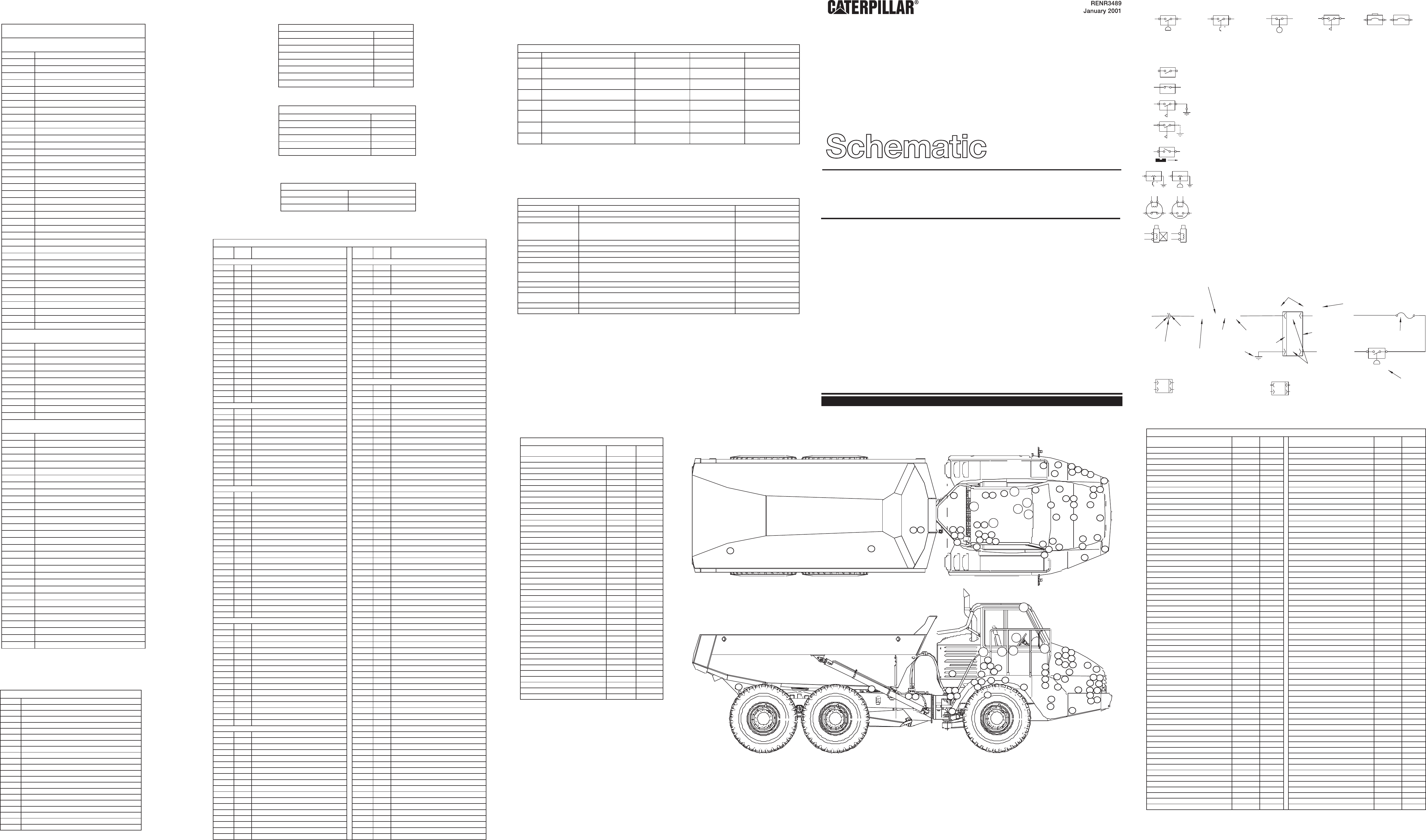725 730 Articulated Trucks Electrical System Schematic Cat Machines Electrical Schematic