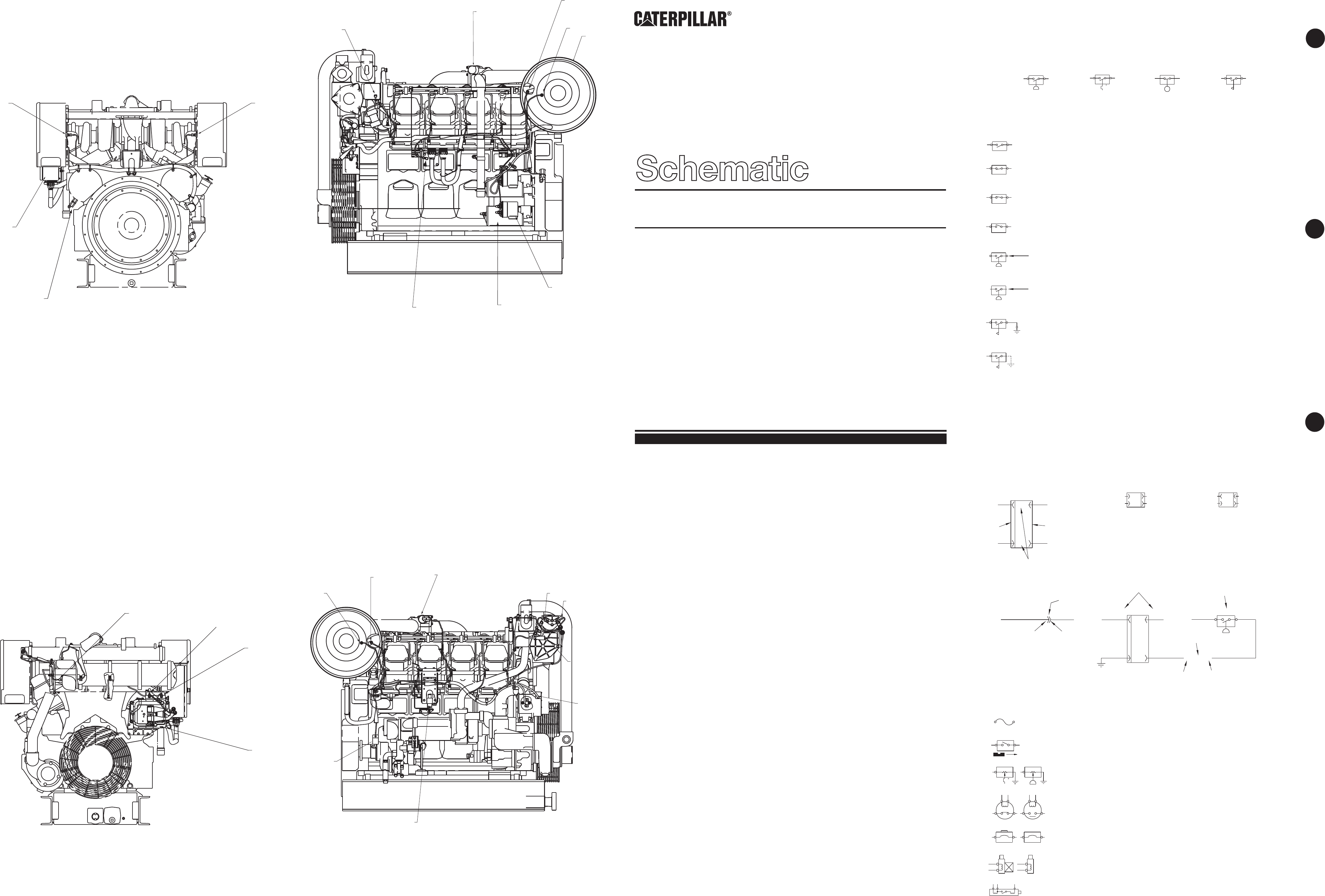3508B INDUSTRIAL ENGINE ELECTRICAL SYSTEM SCHEMATIC | CAT Machines  Electrical SchematicCAT Machines Electrical Schematic