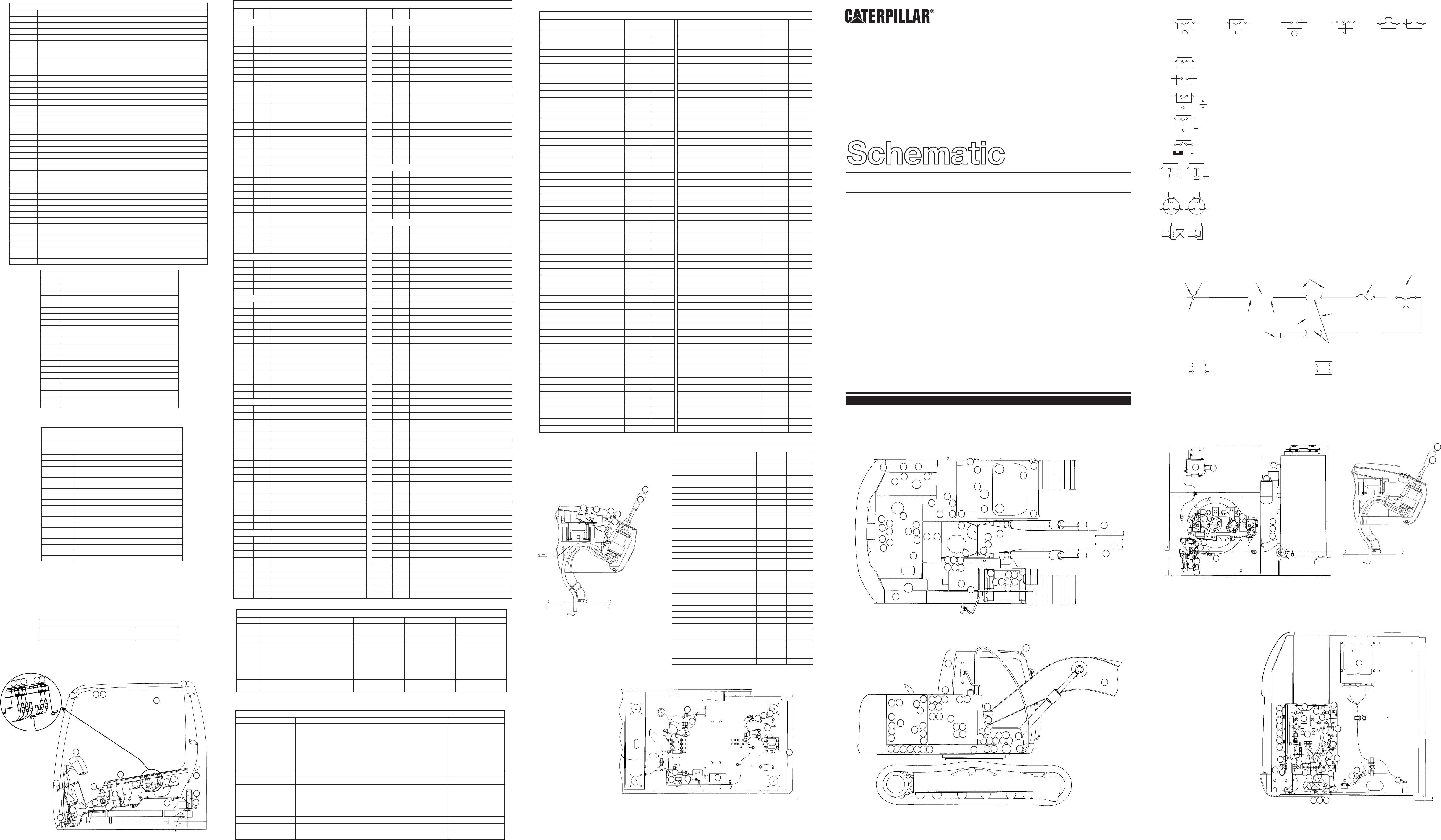 312C EXCAVATOR ELECTRICAL SCHEMATIC (VOL 1=MAIN, VOL 2=TOOL CONTROL) USED  IN SERVICE MANUAL RENR5500 | CAT Machines Electrical SchematicCAT Machines Electrical Schematic