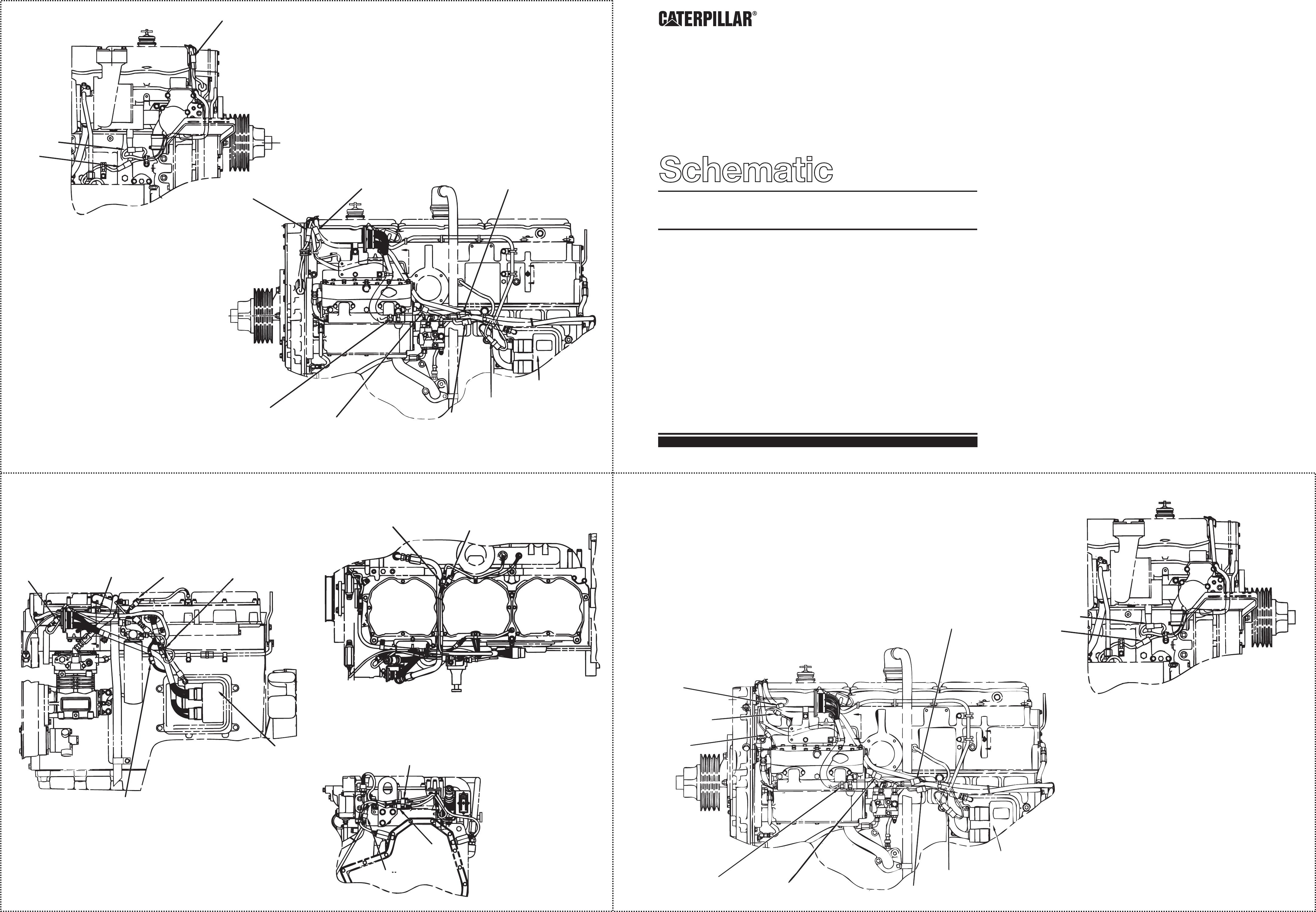 3176c, 3196, 3406e & 3456 industrial engines – schematic | cat machines electrical  schematic  cat machines electrical schematic