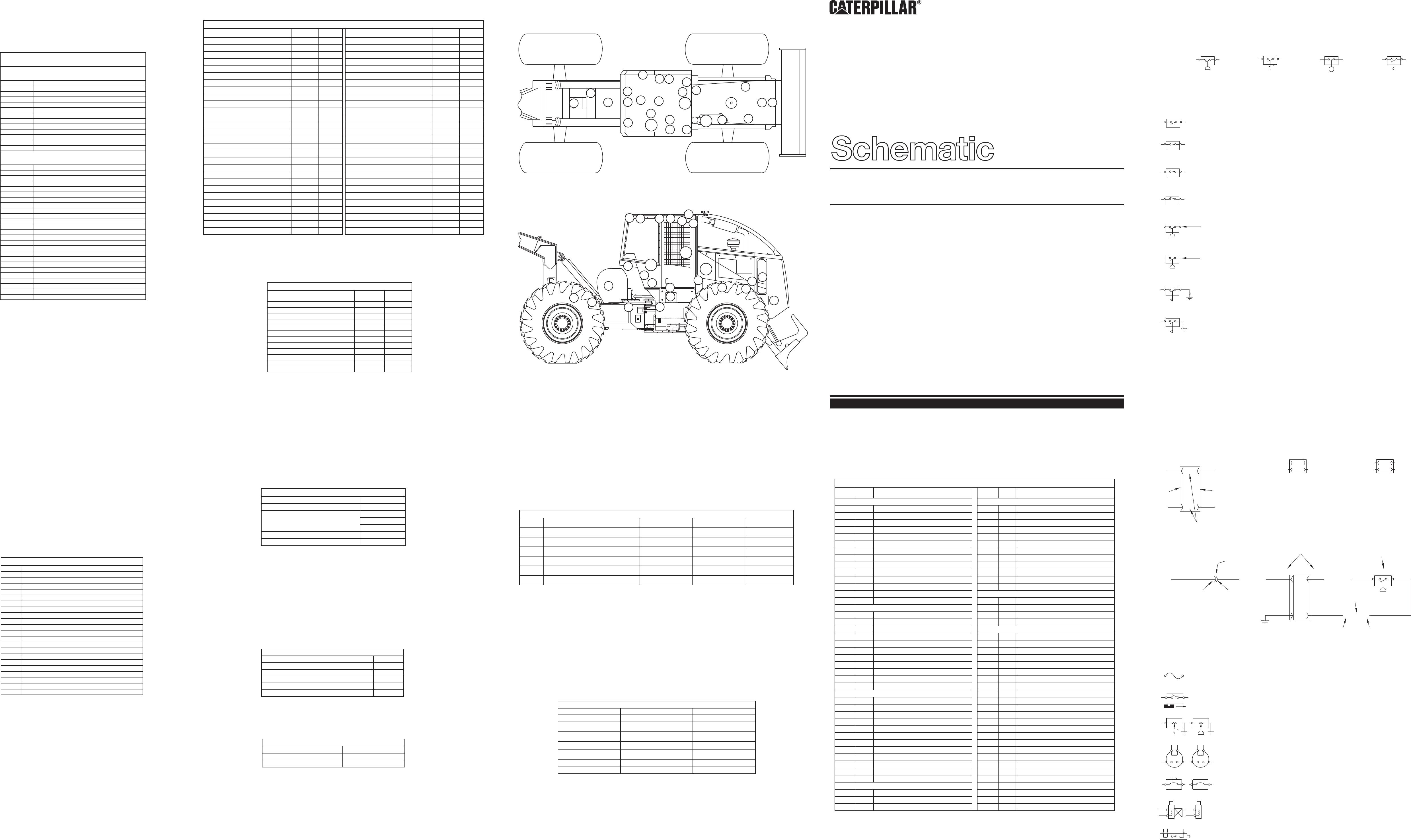 515 & 525 wheel skidder electrical system schematic  �  2001 caterpillar