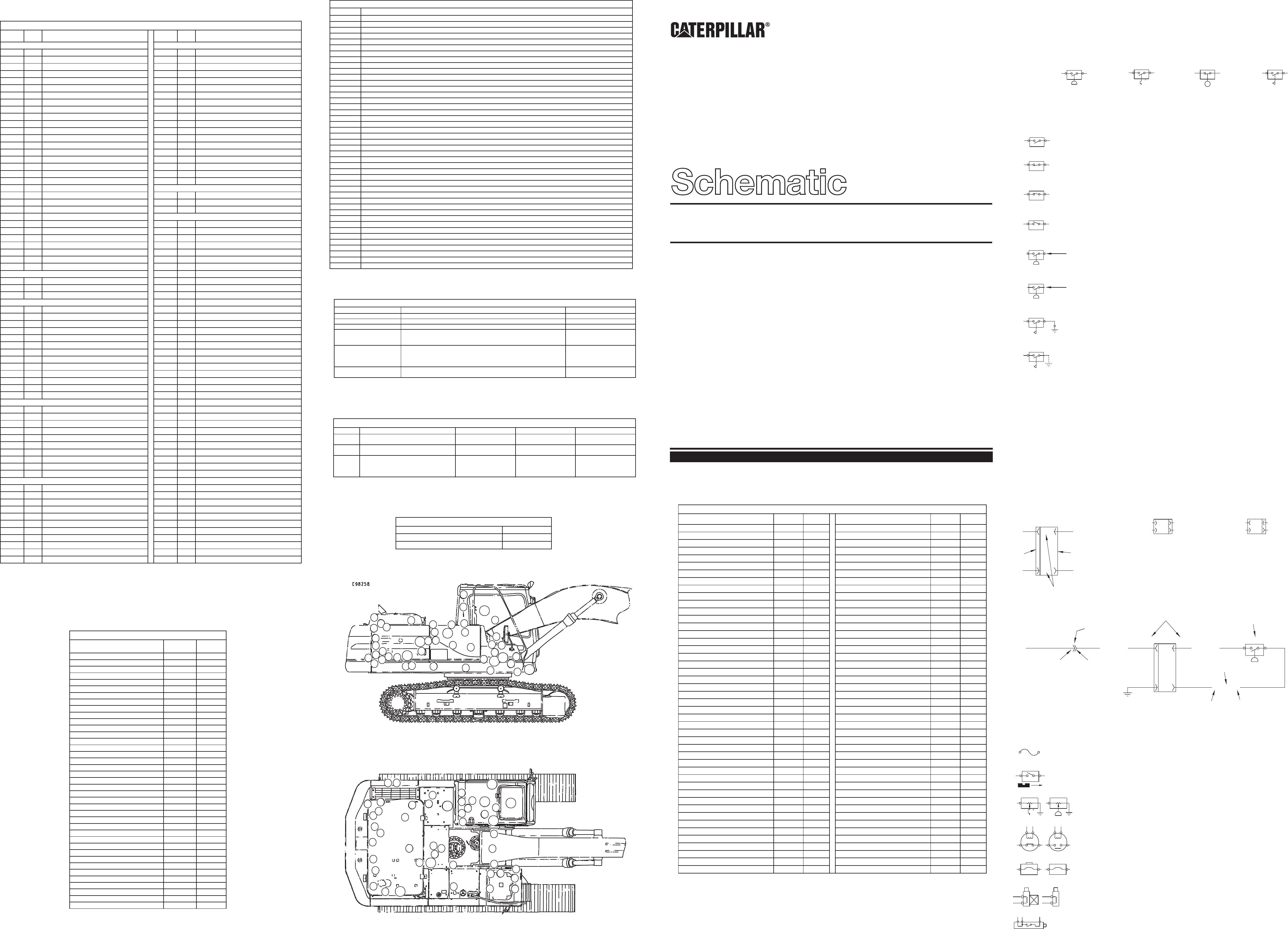 311B,312B,312B L EXCAVATOR ELECTRICAL SCHEMATIC USED IN SERVICE MANUAL  SENR9220 | CAT Machines Electrical SchematicCAT Machines Electrical Schematic